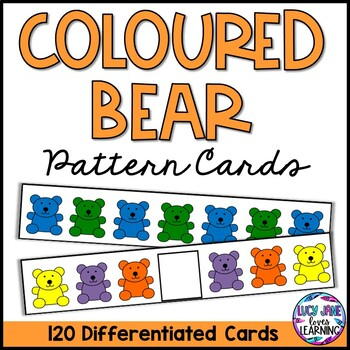 Coloured Bear Pattern Cards