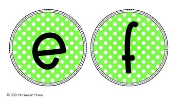 Coloured Display Letters-  Bulletin Board Letters