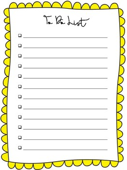 Coloured To Do Lists