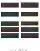 Coloured and Blackboard Labels - Editable