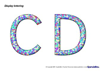 Coloured letters