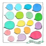Coloured speech bubble clipart