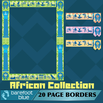 Colourful African-style page borders (5 sets)