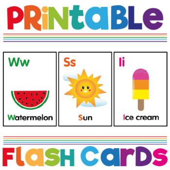 A - Z Colourful Alphabet Flash Cards