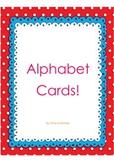 Colourful Alphabet Flash Cards