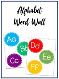 Colourful Alphabet Word Wall Headers