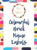 Colourful Brick Labels