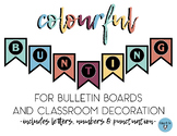 Colourful Bulletin Board Banner Letters