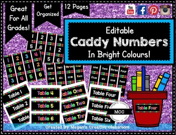 Colourful Caddy Numbers