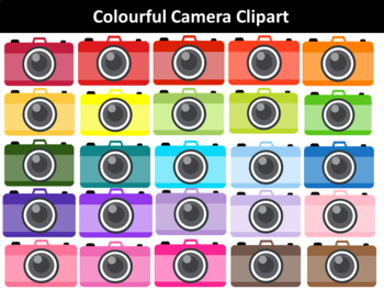 Colourful Cameras Clipart