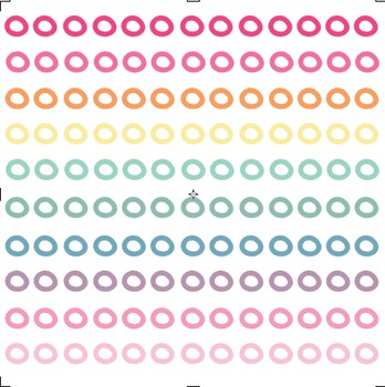Colourful Cheerio Doodle Borders