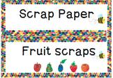 Colourful Classroom flashcards- fruits scrap, scrap paper
