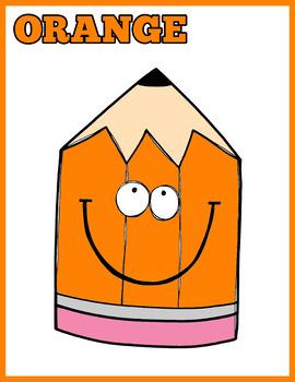 Colorful Crayons Flash Cards; Kindergarten; Preschool; Homeschool; Colors