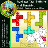 Colourful Dice Pattern Templates - Bee Creative Clip Arts - 2018