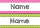 Colourful Digital Desk/Tote Tray Labels