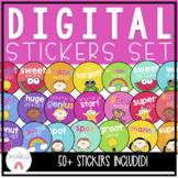 Colourful Digital Sticker Set Google Classroom Online Learning