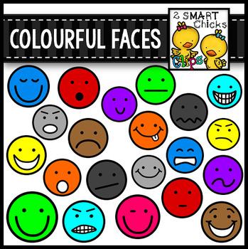 Colourful Faces Clip Art