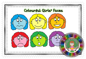 Colourful Faces - Girls