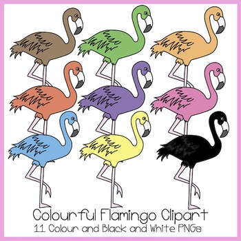 Colourful Flamingo Clipart