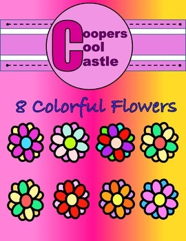 Colourful Flowers (Creative Digital Clipart) CCC