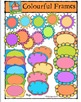 Colourful Frames {P4 Clips Trioriginals Digital Clip Art}