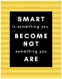 Colourful Growth Mindset Posters - set of 5