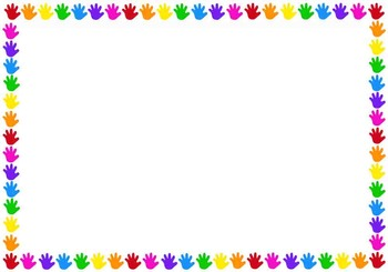 Colourful Hands Border