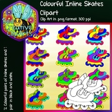 Colourful Inline Skates (Pairs) - Bee Creative Clip Arts -