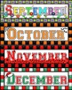 Colourful Months, Seasons & Days of the Week Display Labels for Australian Kids