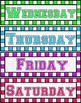 Colourful Months, Seasons & Days of the Week Display Label