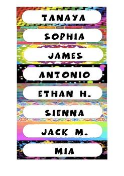 Colourful Name Tags