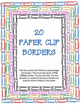 Colourful Paper Clip Borders