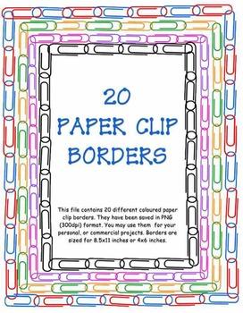 Colourful Paper Clip Borders