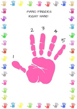Colourful Piano Finger Worksheets