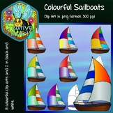 Colourful Sailboat Clip Art - We are sailing