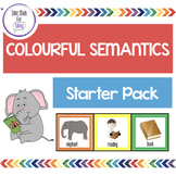 Colourful Semantics starter pack - EDITABLE COLOURS