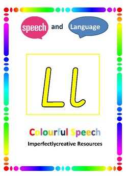 Colourful Semantics Initial 'l' game and speech cards