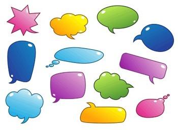 Colourful Speech Bubbles Clip Art
