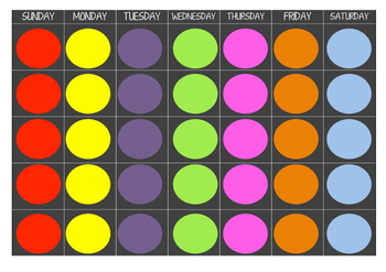 Colorful Chalkboard Spotty Calendar