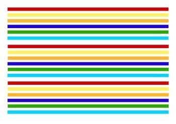 Colourful Stripes (Thick) Bulletin Board Border