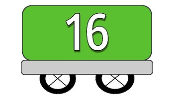 Colourful Trains with Numbers 1 to 30