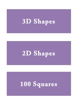 Colourful Tray Labels - Purple
