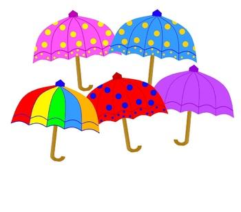 Colourful Umbrellas Clipart