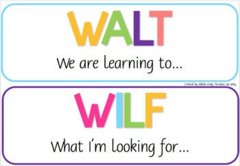 colourful walt wilf tib posters by miss craig s classroom tpt