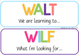 Colourful WALT, WILF, TIB Posters