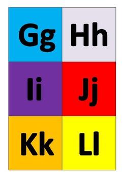 Colourful alphabet cards