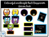 Colourful and Bright Owl Classroom Décor Pack
