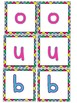 Colourful boggle display letters