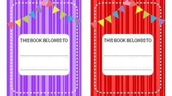 Colourful book labels