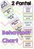 Colourful bright behaviour chart chevron